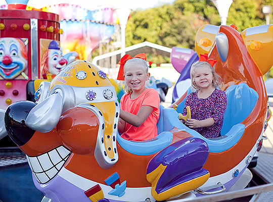 Kiddie Attractions at Party Central in Bossier City, LA