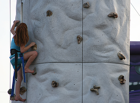 Rock Climbing at Party Central in Bossier City, LA